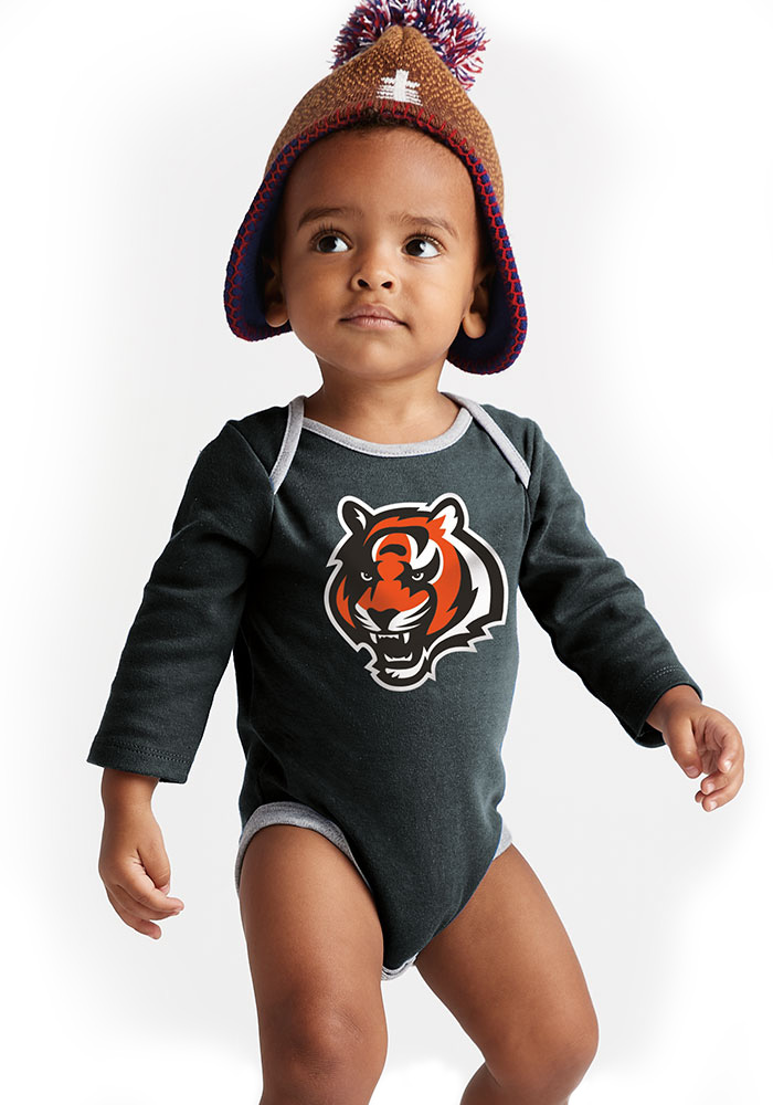 Cincinnati Bengals Baby Black Trophy One Piece - Image 4
