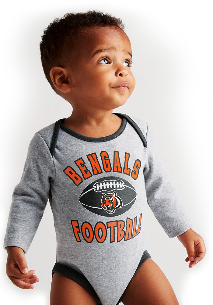 Cincinnati Bengals Baby Black Trophy One Piece - Image 5