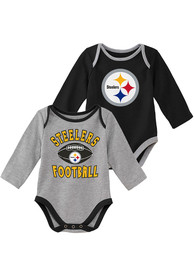 Pittsburgh Steelers Baby Trophy One Piece - Black