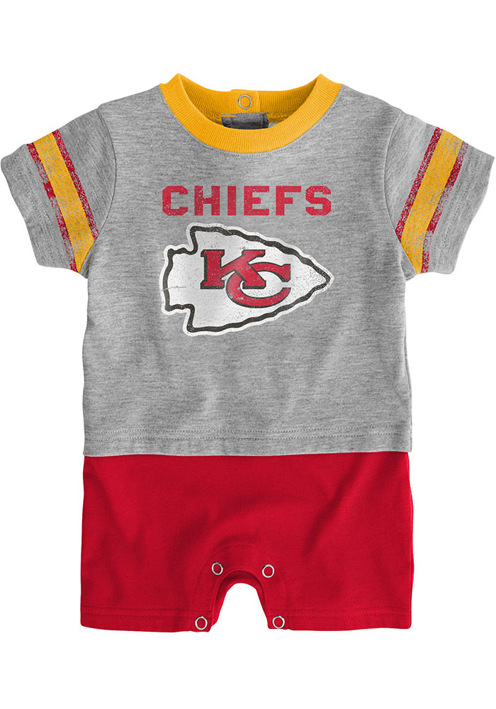 Kansas City Chiefs Baby Kicker One Piece - Red