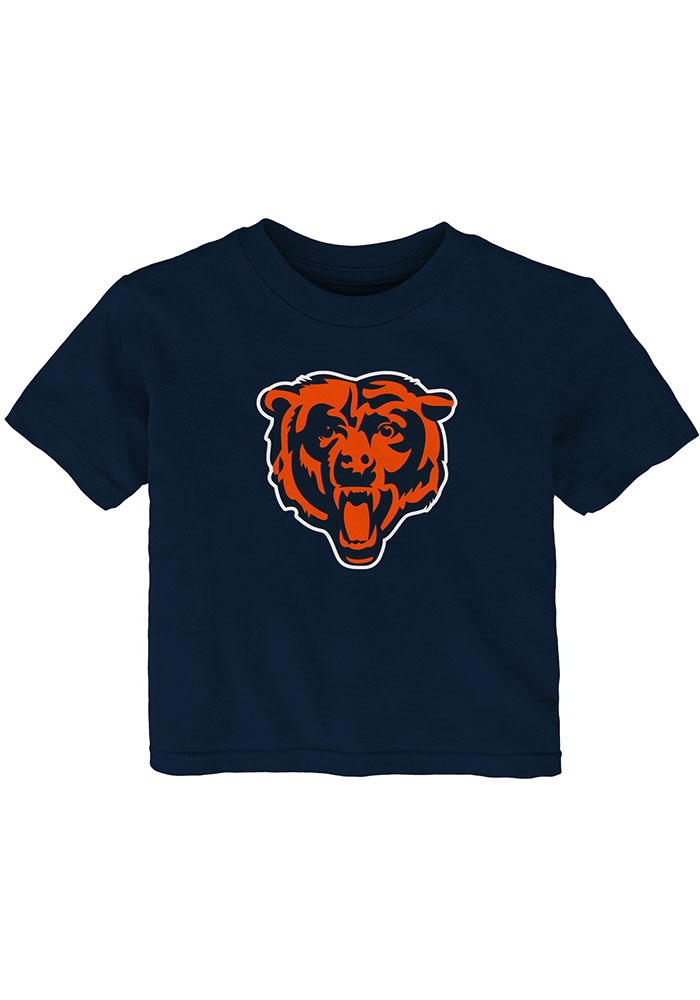 Chicago Bears Infant Primary Logo Short Sleeve T-Shirt Navy Blue - Image 1