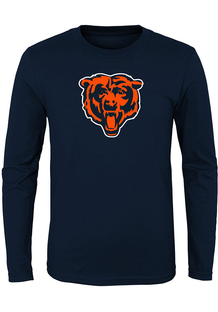 Chicago Bears Toddler Primary Logo T-Shirt - Navy Blue