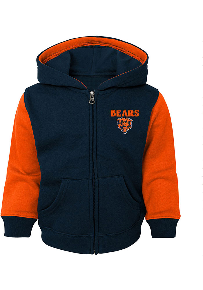 Chicago Bears Toddler Stadium Full Zip Sweatshirt - Navy Blue