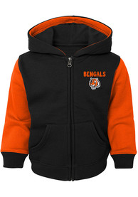 Cincinnati Bengals Toddler Stadium Full Zip Sweatshirt - Black