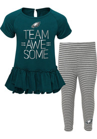 buy popular 6b68c 2a0db Philadelphia Eagles Toddler Girls Awesome Top and Bottom Set Teal