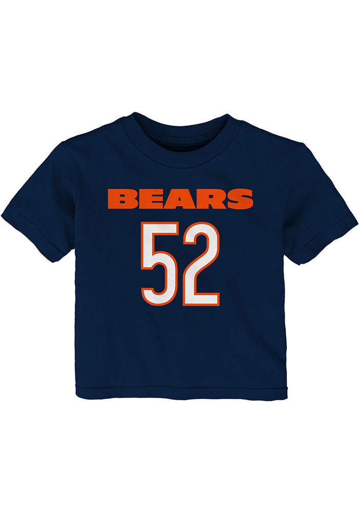 Khalil Mack Chicago Bears Infant Mainliner N&N Short Sleeve T-Shirt Navy Blue - Image 2