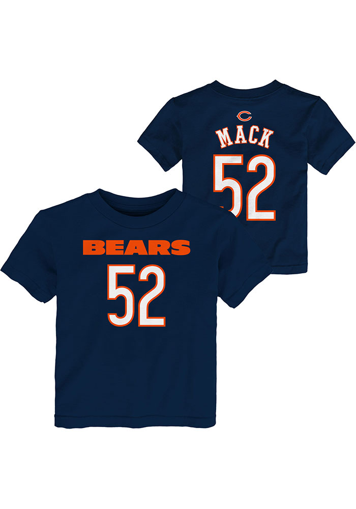 Khalil Mack Chicago Bears Toddler Outer Stuff Mainliner Name and Number T-Shirt - Navy Blue