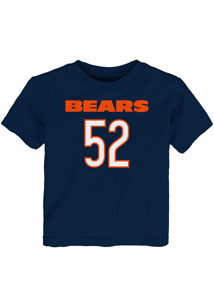 Khalil Mack Chicago Bears Toddler Navy Blue Mainliner Name and Number Short Sleeve Player T Shirt - Image 2