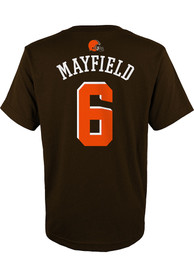 Baker Mayfield Cleveland Browns Youth Mainliner Name and Number T-Shirt - Brown