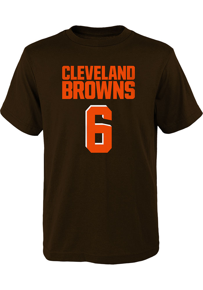 Baker Mayfield Cleveland Browns Youth Brown Mainliner N&N Player Tee - Image 2