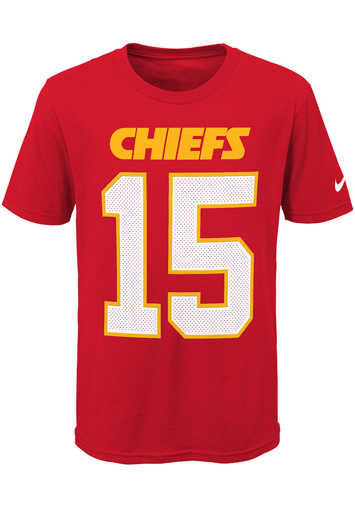 Patrick Mahomes Kansas City Chiefs Youth Red Player Pride N&N Player Tee - Image 2