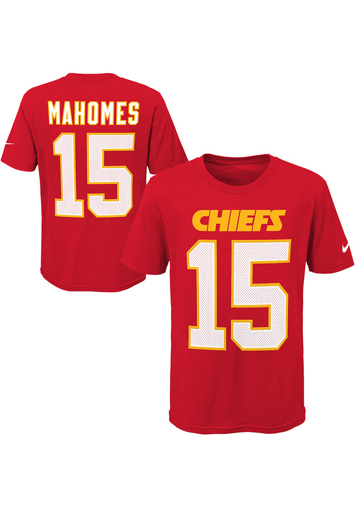 Patrick Mahomes Kansas City Chiefs Youth Red Player Pride N&N Player Tee - Image 3