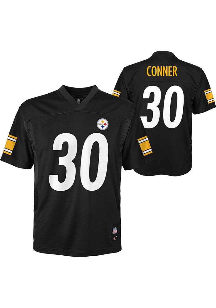 James Conner Outer Stuff Pittsburgh Steelers Youth Black Mid-Tier Jersey Football Jersey - Image 3