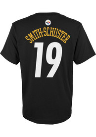 JuJu Smith-Schuster Pittsburgh Steelers Youth Mainliner Name and Number T-Shirt - Black