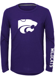 K-State Wildcats Youth Trainer T-Shirt - Purple