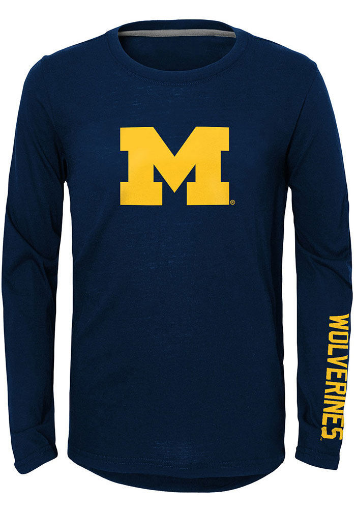 Michigan Shirt Trainer Wolverines Navy Blue T Youth rBCxtdshQ