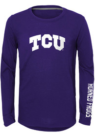 TCU Horned Frogs Youth Trainer T-Shirt - Purple