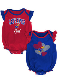 Kansas Jayhawks Baby Celebration One Piece - Blue