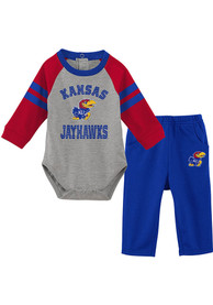 Kansas Jayhawks Infant Touchdown Top and Bottom - Blue
