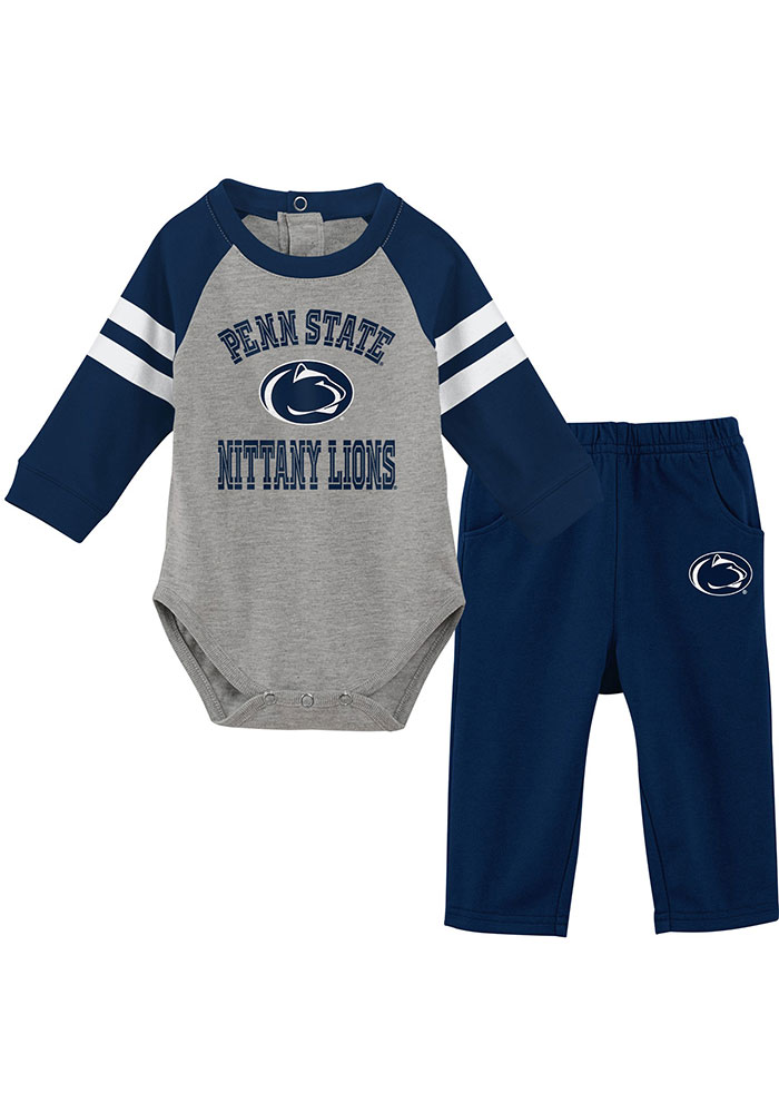 Penn State Nittany Lions Infant Navy Blue Touchdown Set Top and Bottom - Image 1