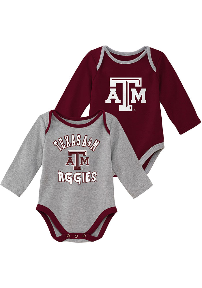 Texas A&M Aggies Baby Maroon Trophy One Piece - Image 1