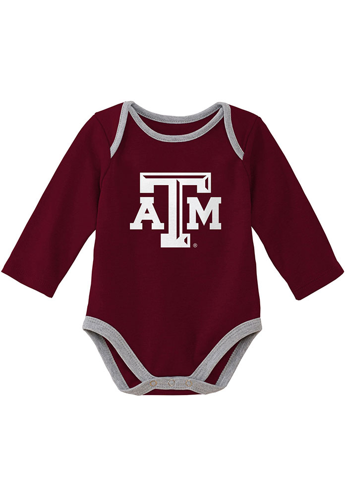 Texas A&M Aggies Baby Maroon Trophy One Piece - Image 2
