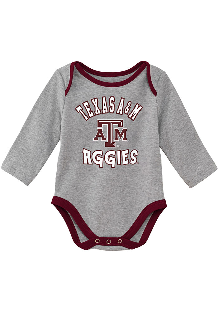 Texas A&M Aggies Baby Maroon Trophy One Piece - Image 3