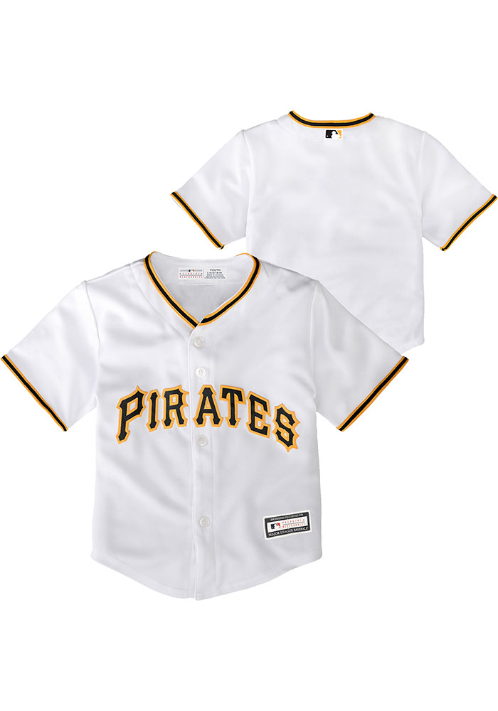new style 4b64b 6c26c Pittsburgh Pirates Toddler White 2019 Home Jersey