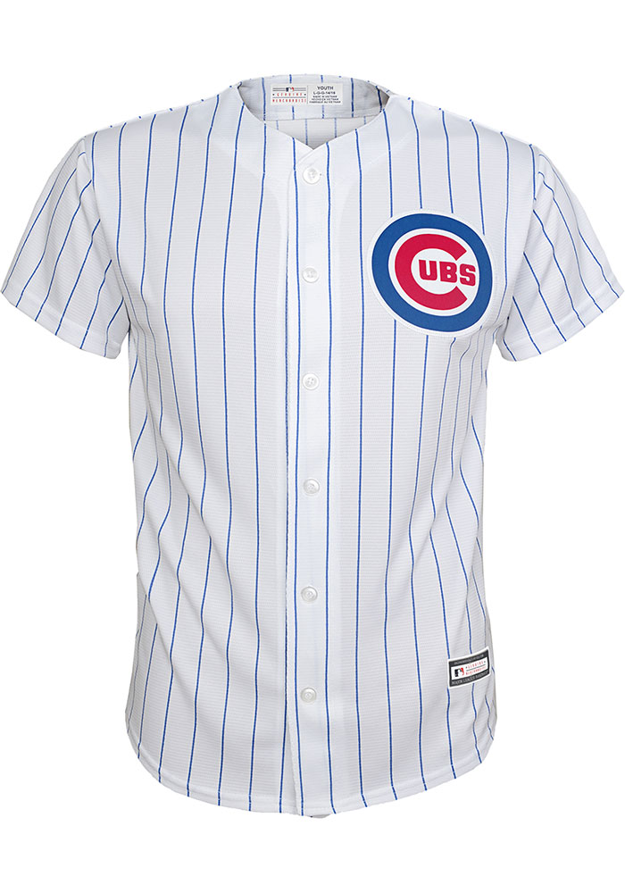 Chicago Cubs Boys White 2019 Home Baseball Jersey - Image 1