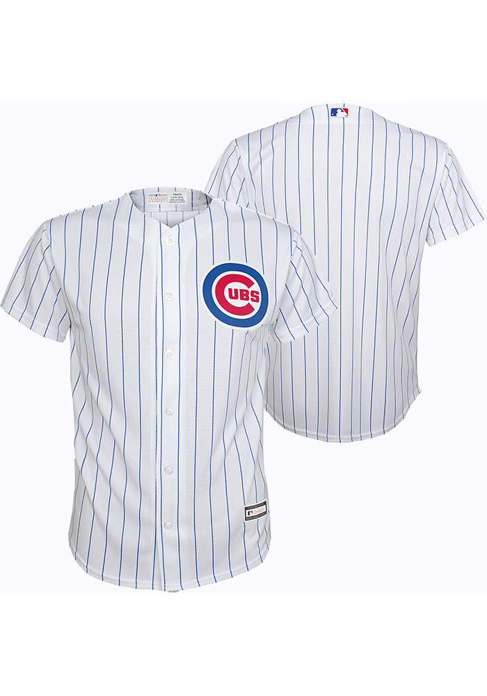 Chicago Cubs Boys White 2019 Home Baseball Jersey - Image 3