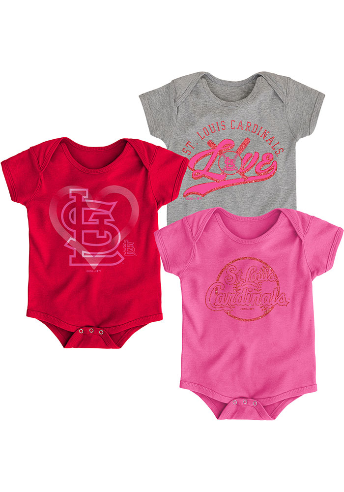 St Louis Cardinals Baby Red Cute Catcher Set One Piece - Image 1