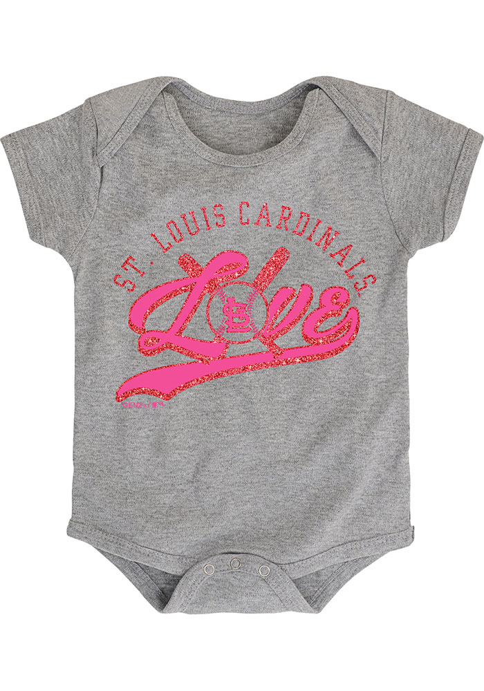 St Louis Cardinals Baby Red Cute Catcher Set One Piece - Image 3