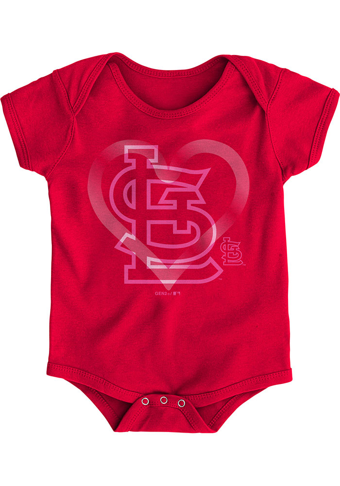 St Louis Cardinals Baby Red Cute Catcher Set One Piece - Image 4