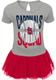 St Louis Cardinals Baby Girls Fan Squad Dress - Red