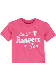 Texas Rangers Infant Girls Girly Fan T-Shirt - Pink
