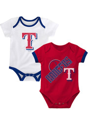 Texas Rangers Baby Groovy Game One Piece - Red