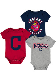 Cleveland Indians Baby Everyday Fan One Piece - Navy Blue