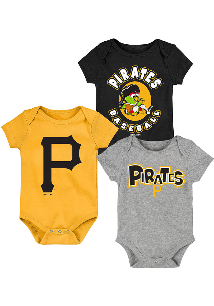 Pittsburgh Pirates Baby Black Everyday Fan One Piece - Image 1