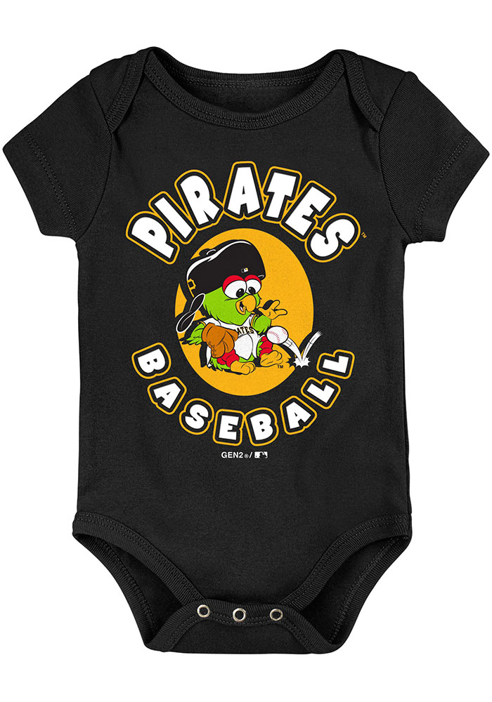Pittsburgh Pirates Baby Black Everyday Fan One Piece - Image 2
