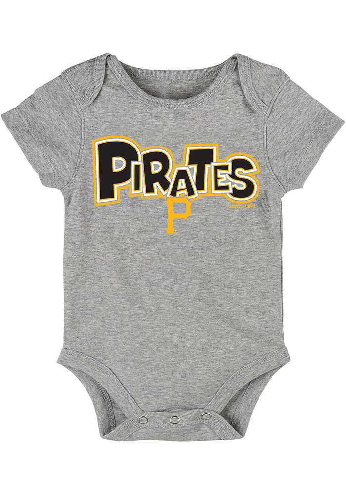 Pittsburgh Pirates Baby Black Everyday Fan One Piece - Image 3
