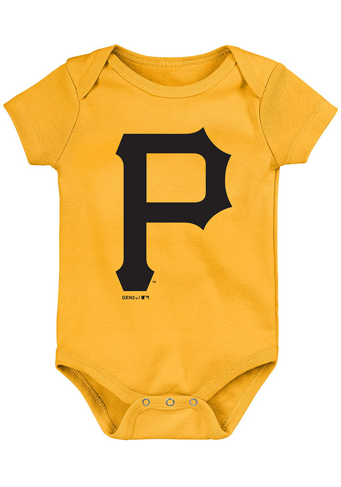Pittsburgh Pirates Baby Black Everyday Fan One Piece - Image 4