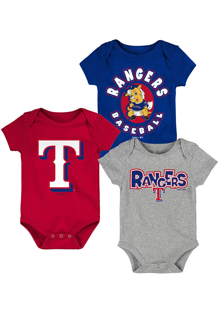 Texas Rangers Baby Red Everyday Fan One Piece - Image 1