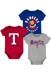 Texas Rangers Baby Everyday Fan One Piece - Red