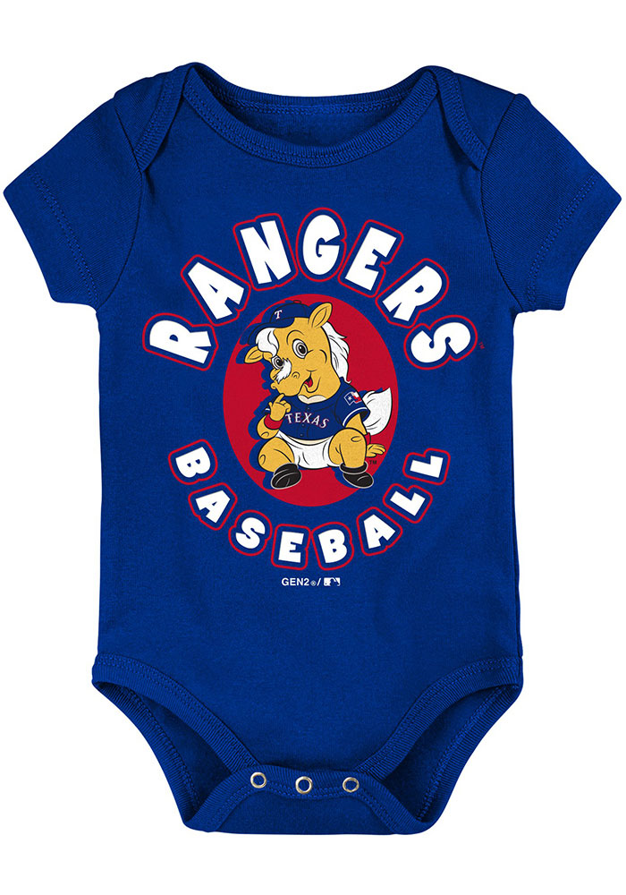 Texas Rangers Baby Red Everyday Fan One Piece - Image 2
