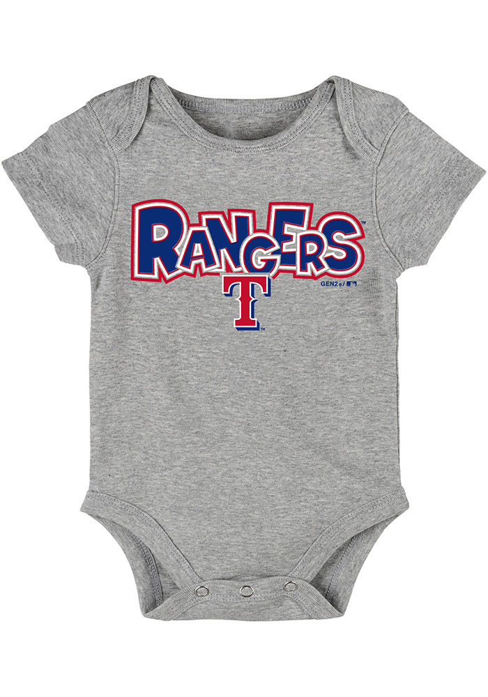 Texas Rangers Baby Red Everyday Fan One Piece - Image 3