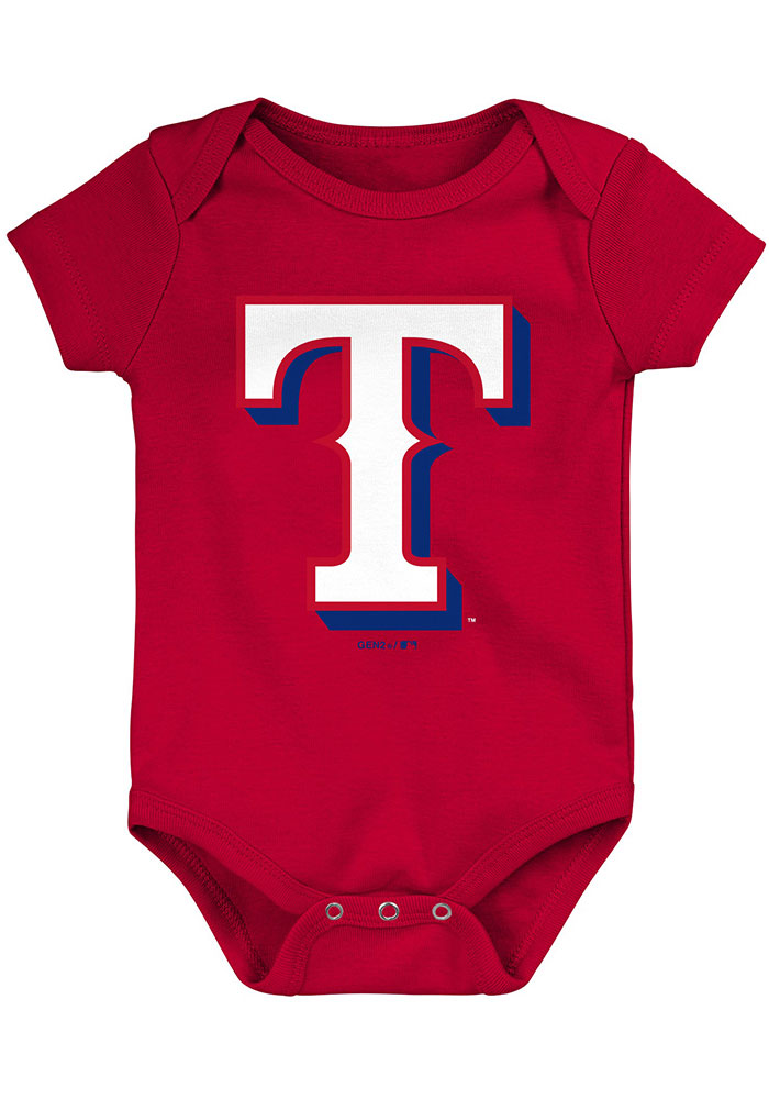 Texas Rangers Baby Red Everyday Fan One Piece - Image 4