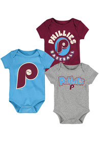 Philadelphia Phillies Baby Everyday Fan Coop One Piece - Red