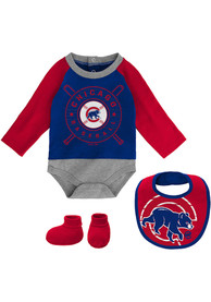 Chicago Cubs Baby Dugout Dude One Piece with Bib - Blue