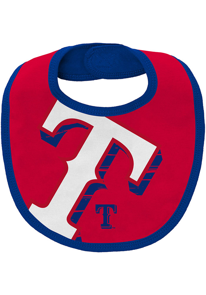 Texas Rangers Baby Red Dugout Dude Set One Piece with Bib - Image 3