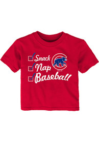 Chicago Cubs Infant Snack Nap T-Shirt - Red